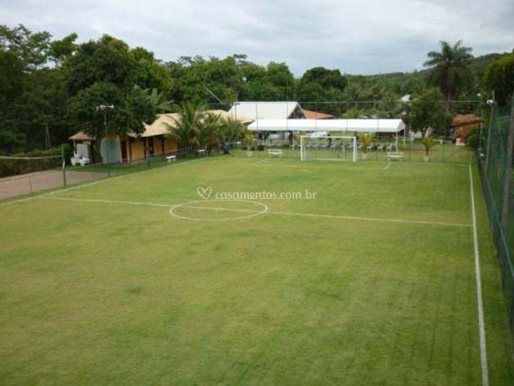 Vista do campo de futebol