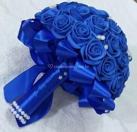 Buquê Noiva Azul Royal