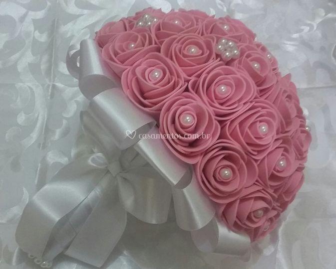 Buquê de Noiva Rosa Claro