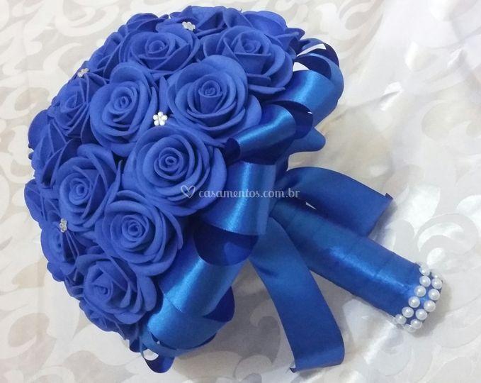 Buquê de Noiva Azul Royal
