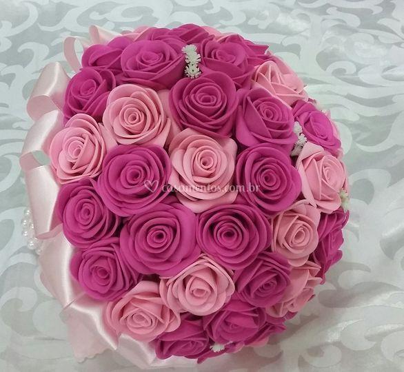 Buquê Noiva rosa Pink
