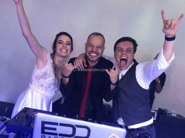 Noivos e Edd Barros DJ \o/