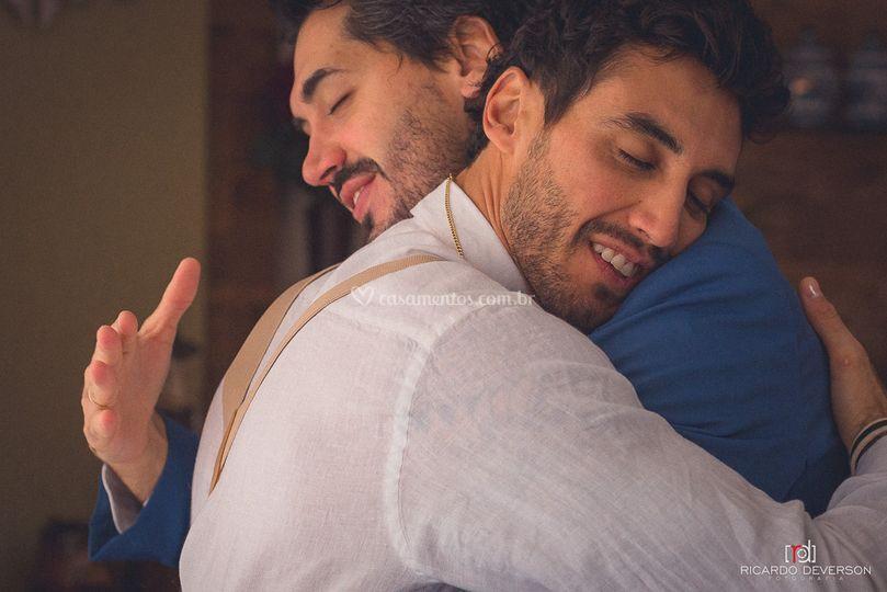 A emoção entre irmãos