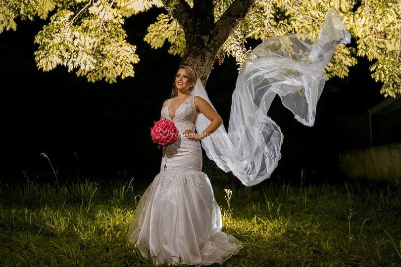 A beleza de uma noiva