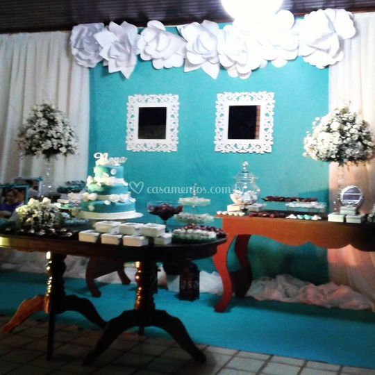 Celebração em azul tiffany