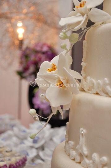 Bolo noiva orquídea