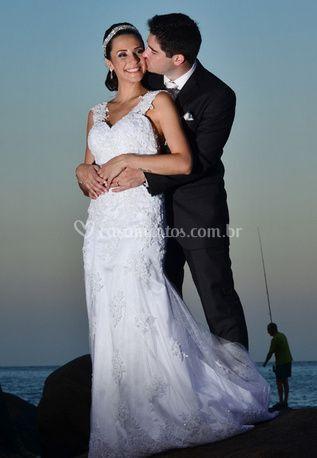Espaço da noiva e do noivo