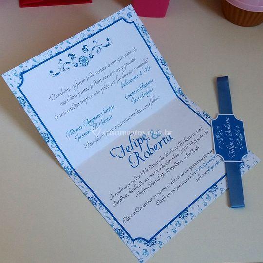 Convite Artesanal - Impresso t