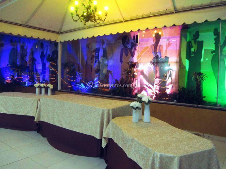 Área para serviço de buffet