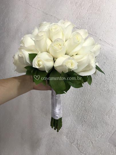 Bouquet rosas brancas