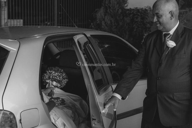 A noiva chegando