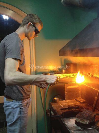 Adam preparando nosso Ouro 18k