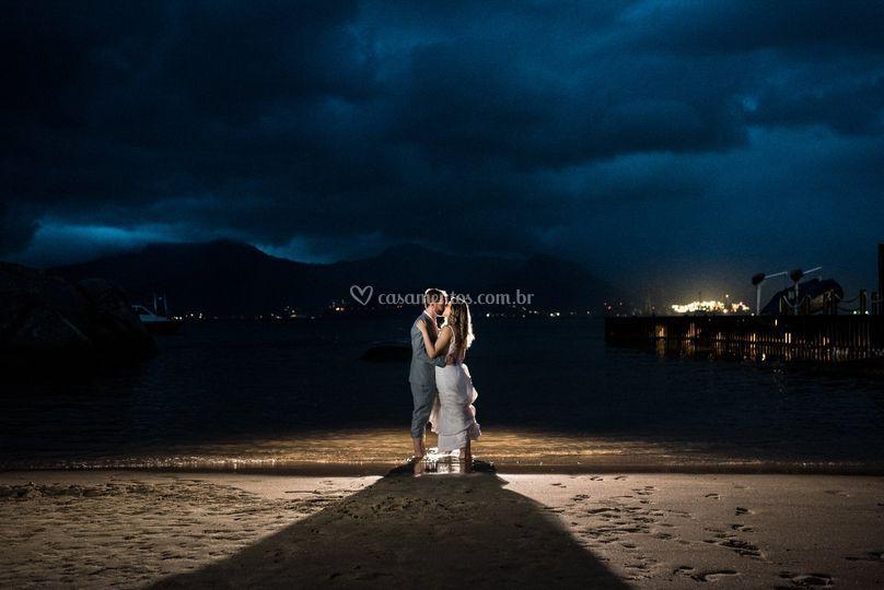 Fotos pós cerimonia na praia