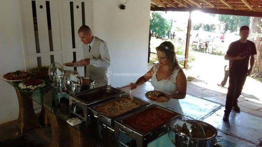Casamento coquetel e almoço