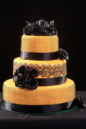 Bolo casamento amarelo