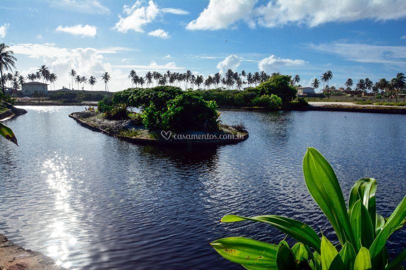 Lagoa privada dentro da ãrea