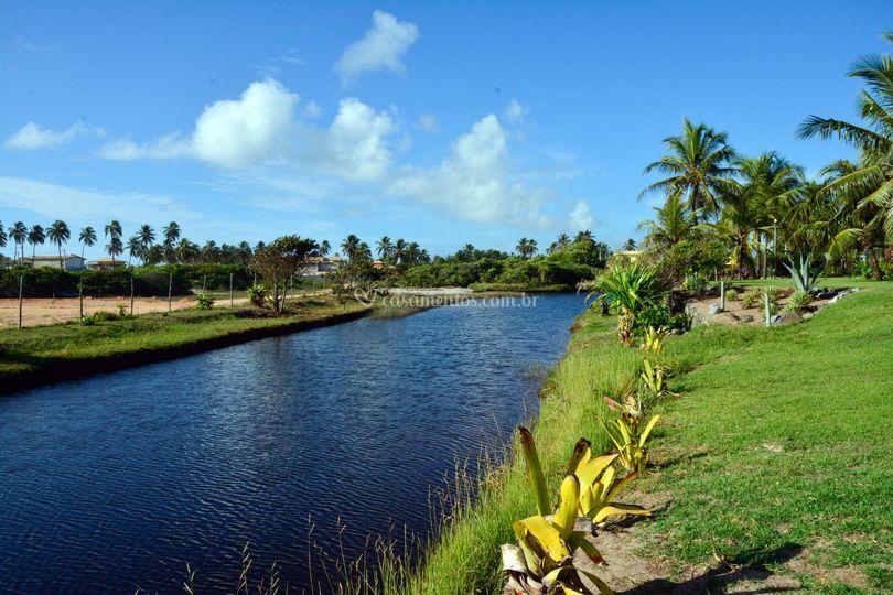 Lagoa privada dentro da área