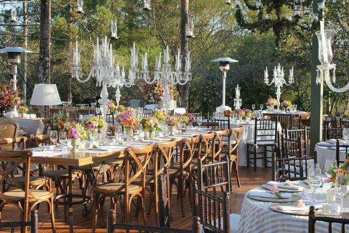 Mesa noivos e família