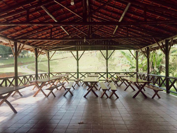 Salão coberto