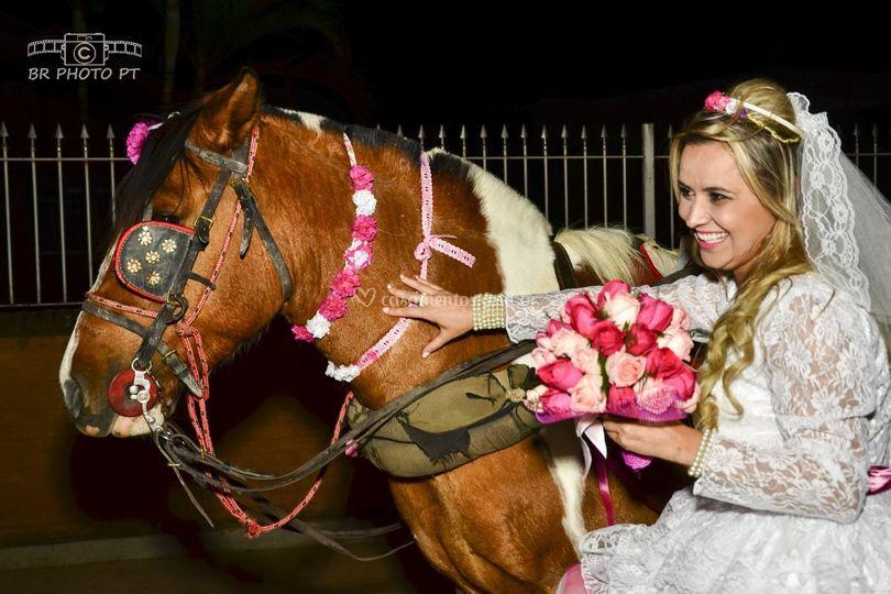O cavalo que levou a noiva