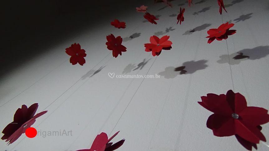 Sakuras em fio