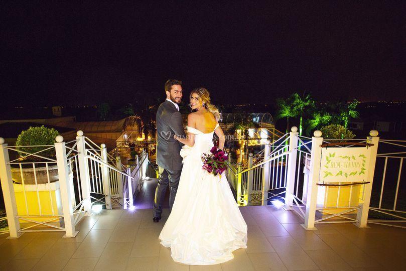 A entrada dos noivos