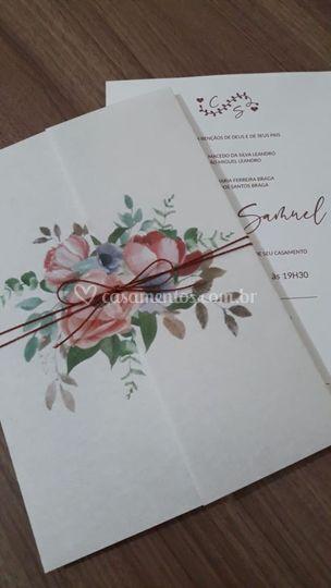 Convite Floral F01