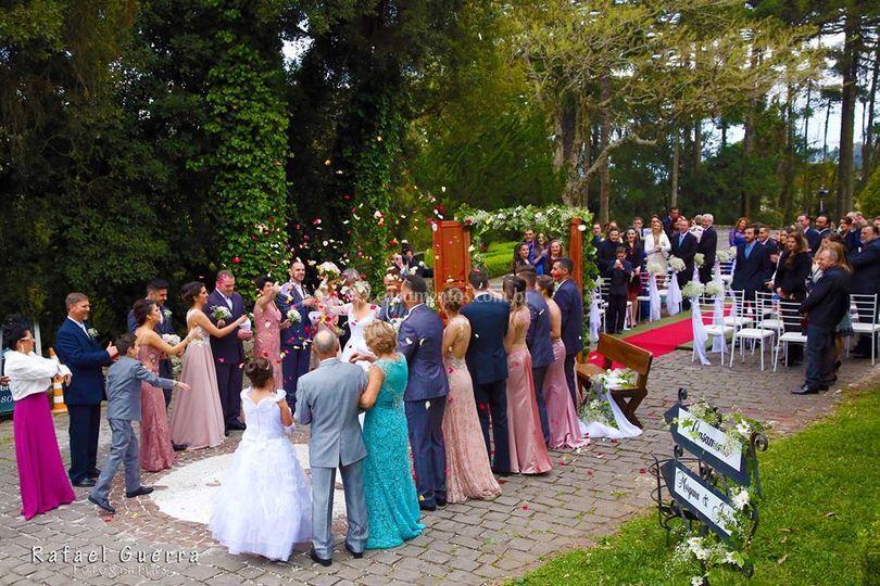 Cerimônia externa - lateral