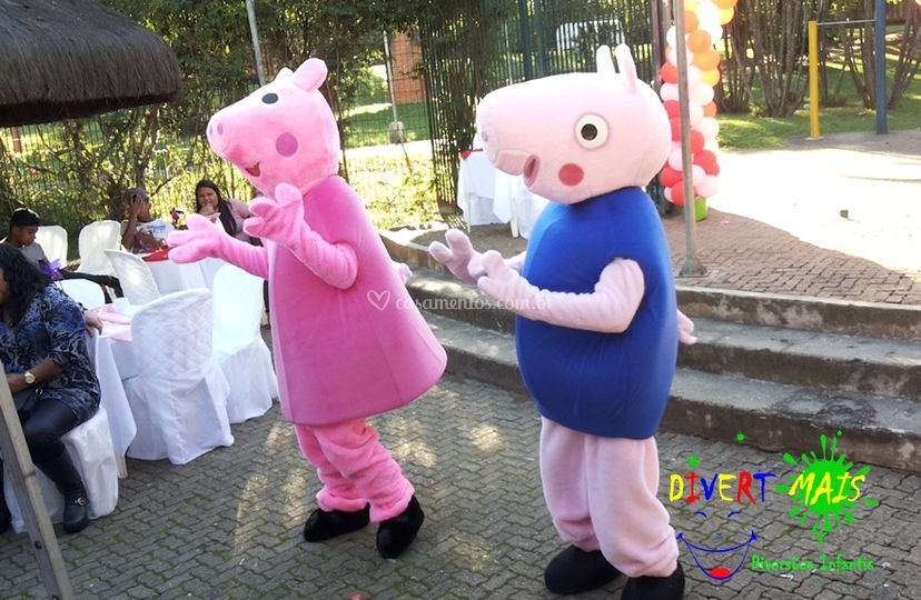 Personagem Peppa e George