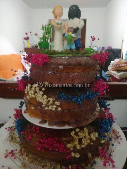 Naked cake do meu casamento