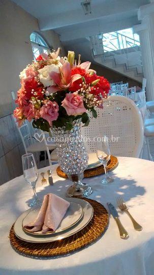 Buffet Santafé-mesa dos noivos