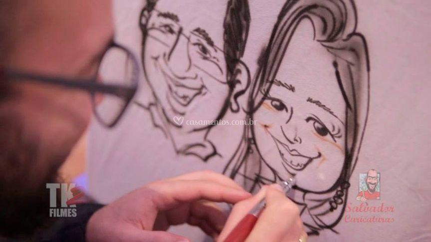 Caricaturas Ao Vivo em Evento