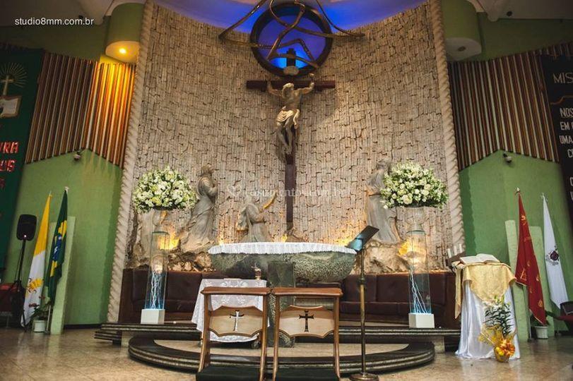 Decoração igreja.