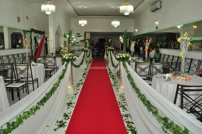 Decoração para cerimonia