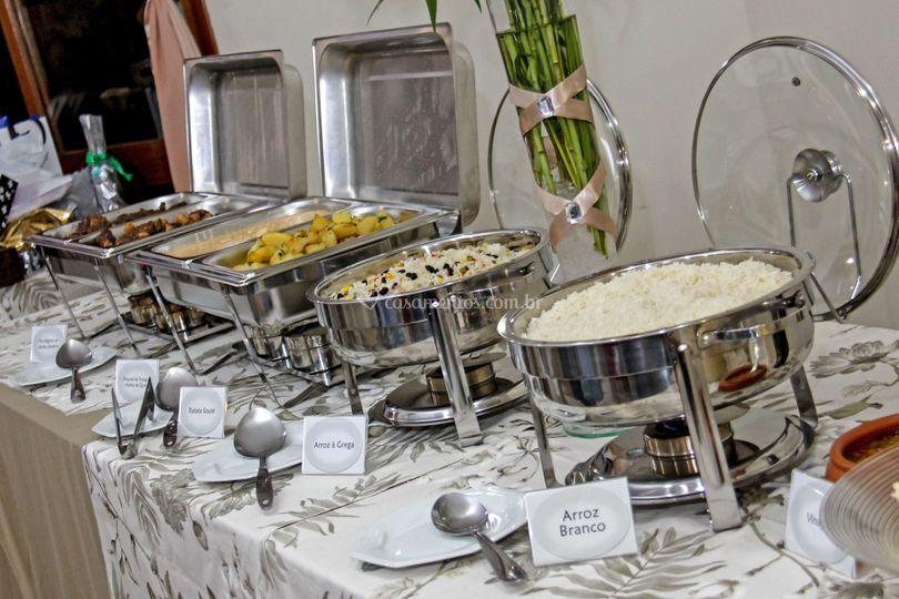 Buffet pratos quentes