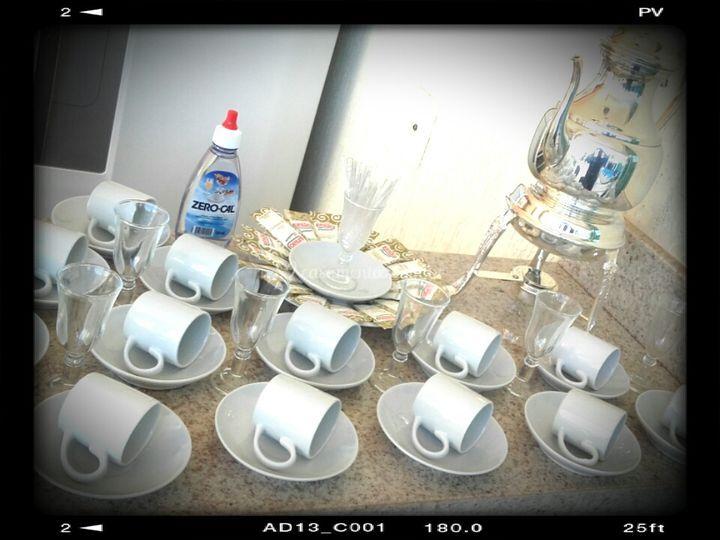 Uma bela mesa de cafe