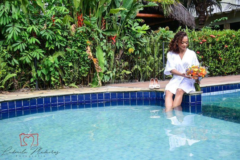 Noiva e a beleza natural