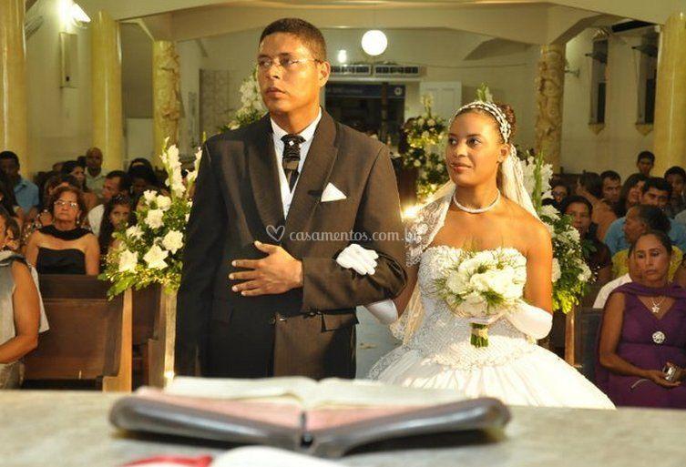 Noivos e cerimônia