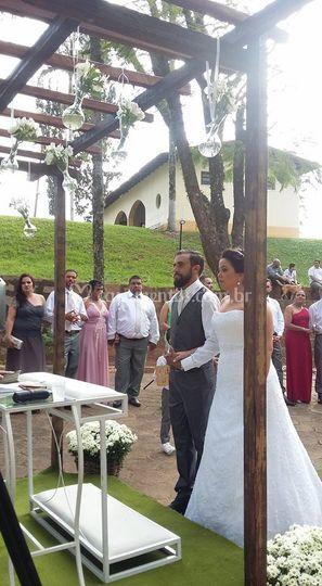 Noivos Renata e Edson