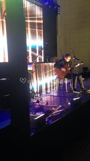 Led, palco, musica ao vivo