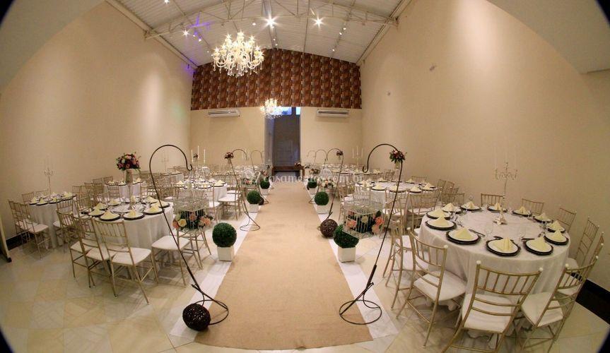Salão com cerimonial