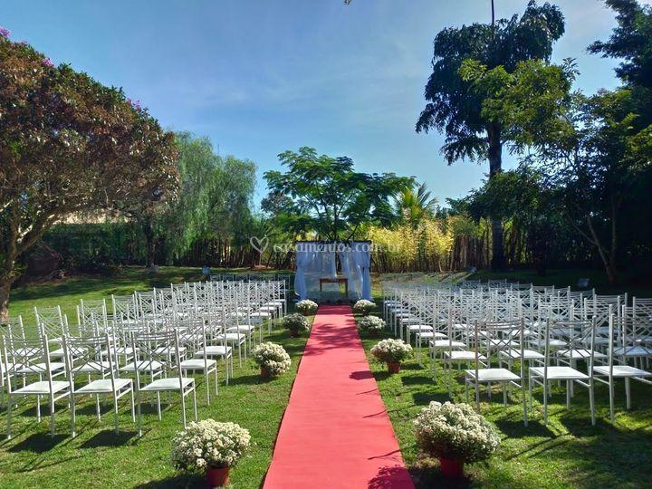 Cerimônia no Campo 1