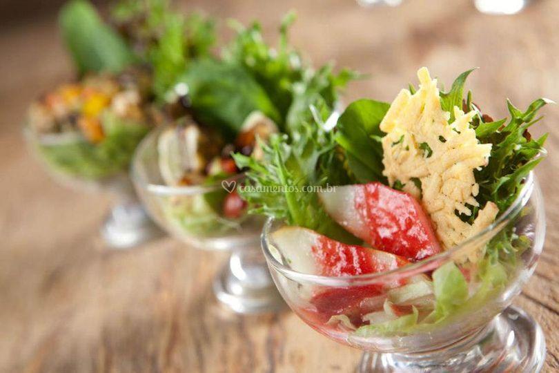 Trio de saladas refrescantes