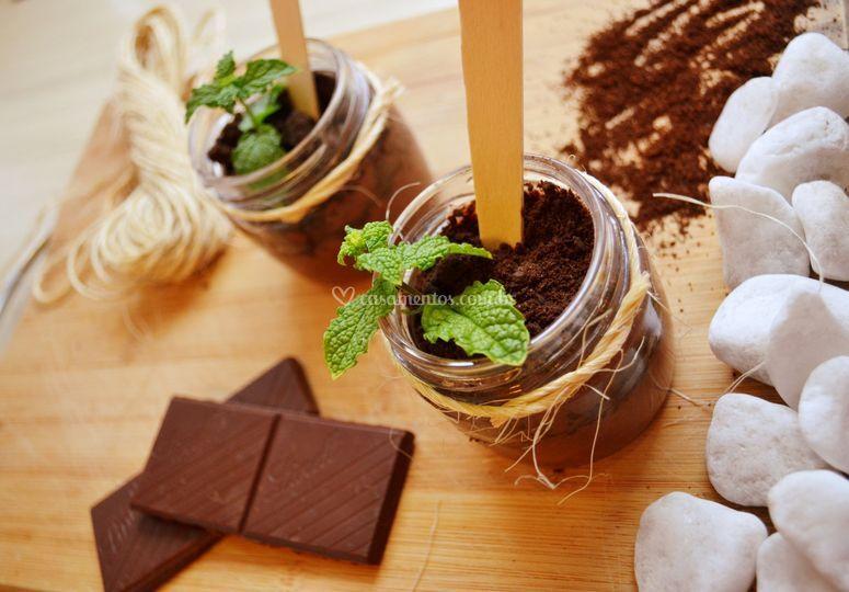 "Sobremesa ""terra de chocolate"""