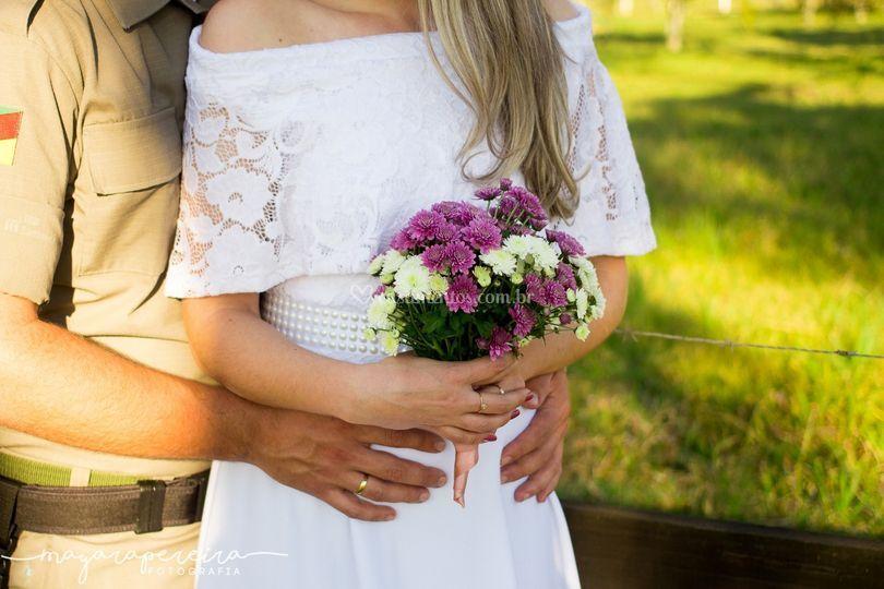 Noiva em seu pré Wedding