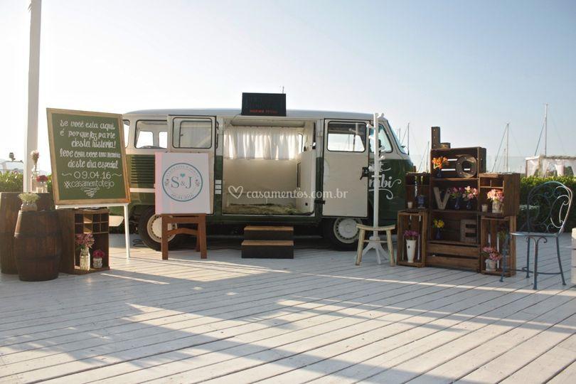Kombi - Casamento na Praia