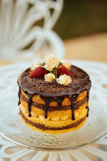 Naked Cake Brigadeiro e Leite