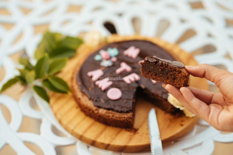 Brownie com Ganache Confeitado