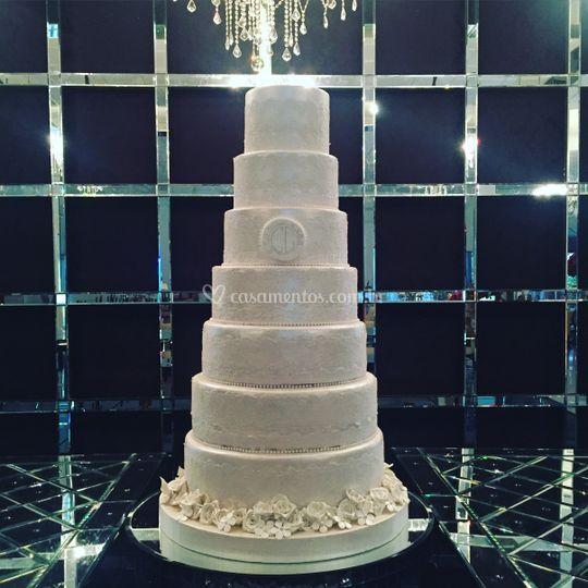 Maquete - bolo de casamento