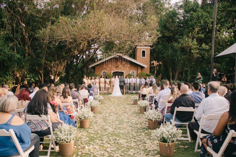 Cerimônia ao ar livre - Capela